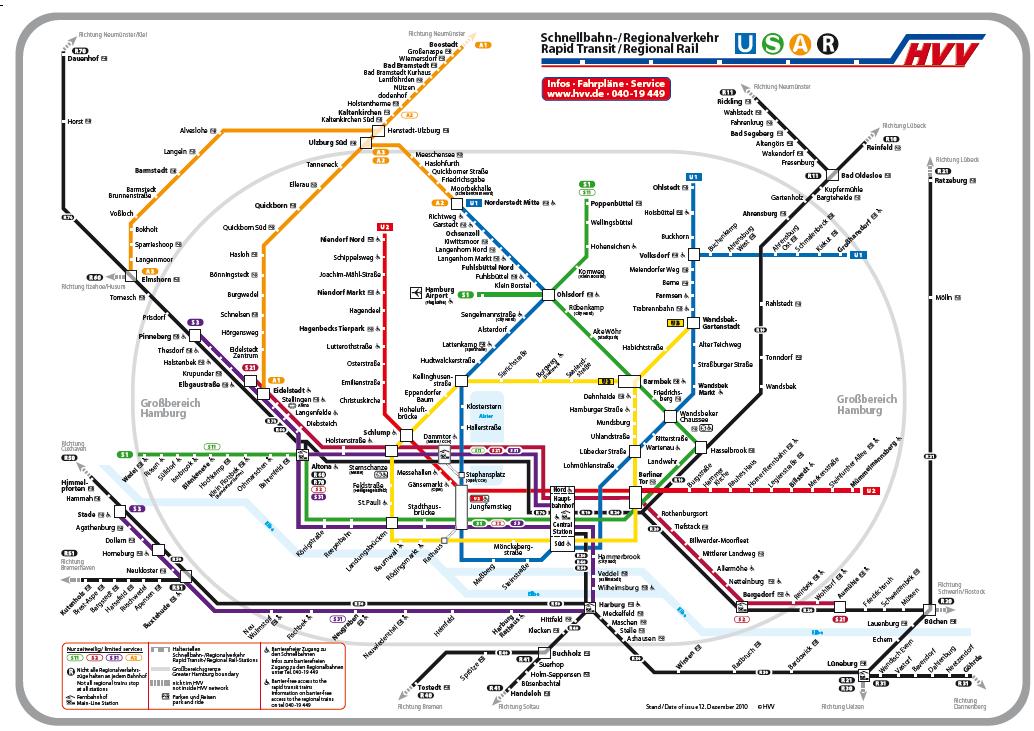 Hvv Karte Ringe.Explanation Of The Public Transport In Hamburg